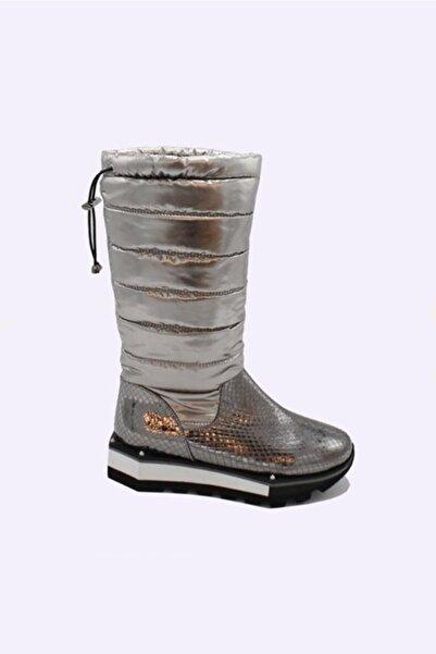 unica shoes Siar Gri Baskılı Eva Taban Yağmur Çizmesi