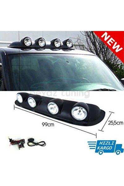 Universal Off Road Sis Farı Tavan Sis Lambası 4 Lü Beyaz