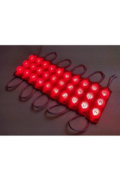 Momo Camlı Parmak Led Lamba Kırmızı 12 Volt Su Geçirmez 10'lu