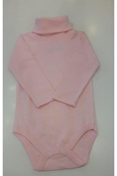 Fuar Baby Unisex Bebek Pembe Uzun Kol Balıkçı Body