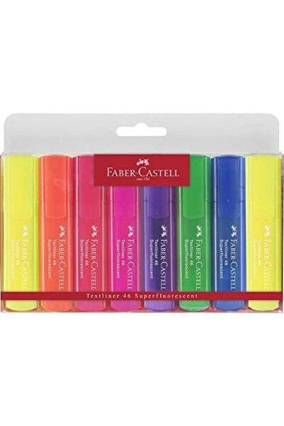 Faber Castell Şeffaf Gövde Fosforlu Kalem 6+2 Li Poşet Canlı Renkler