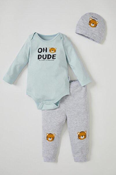 DeFacto Erkek Bebek Baskılı 3'lü Takım
