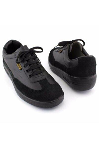 Mekap Unisex Siyah Deri Ayakkabı