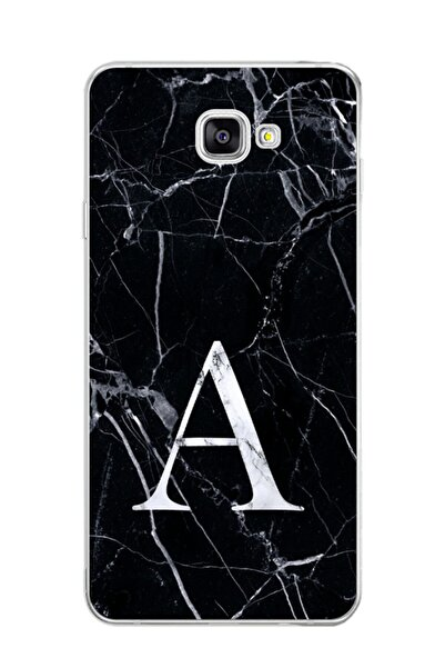 Dafhi Aksesuar Samsung Galaxy J7 Prime Uyumlu Mermer Desen A Harfi Telefon Kılıfı