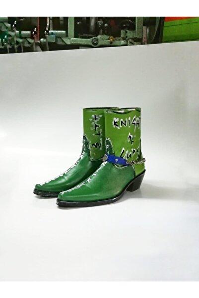 Futuristiklover Unisex Yeşil Kovboy Bot