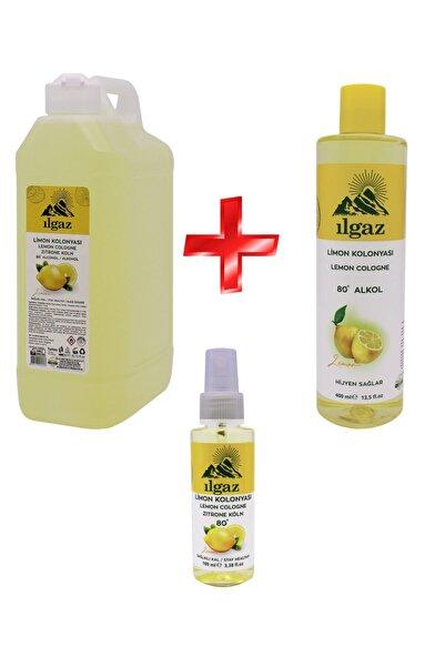 ILGAZ Klasik Limon Kolonyası 3'lü Fırsat 1000 ml + 400 ml + 100 ml Doldurulabilir Çanta Boy