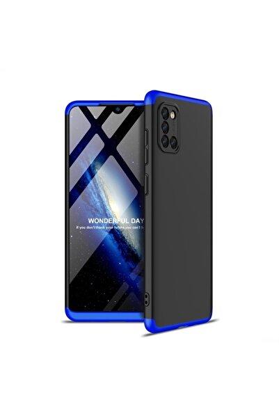 Samsung Teleplus Galaxy A31 Kılıf 360 Ays Sert Kapak Mavi + Nano Ekran Koruyucu