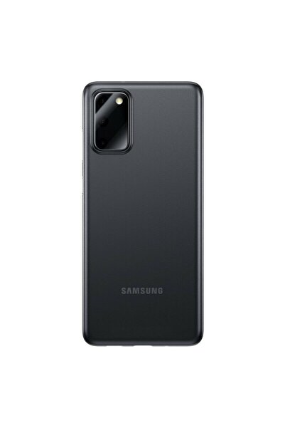Samsung Teleplus Galaxy S20 Plus Kılıf Hayalet 0.4mm Silikon Siyah + Tam Kapatan Ekran Koruyucu + Kamera Nan
