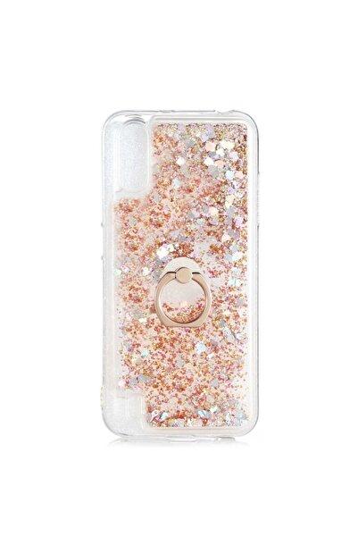 Samsung Teleplus Galaxy A70 Kılıf Milce Yüzüklü Sulu Silikon Gold