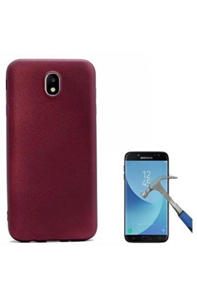 Samsung Teleplus Galaxy J5 Pro Lüks Silikon Kılıf Bodro+ Cam Ekran Koruyucu