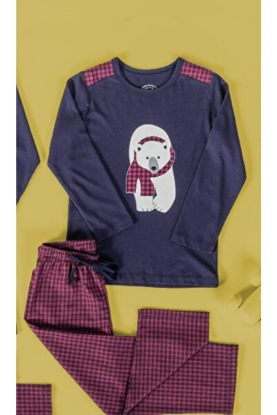 Katia&Bony Erkek Çocuk Lacivert Dady Bear Pijama Takımı