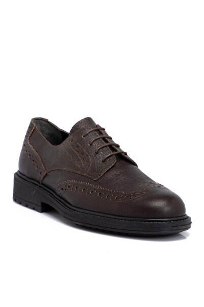 Tergan Kahverengi Deri Erkek Ayakkabı 55017a42