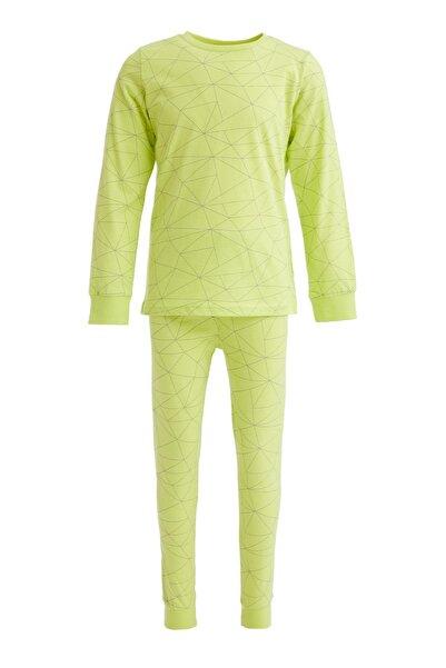 DeFacto Erkek Çocuk Sarı Baskılı Pijama Takımı
