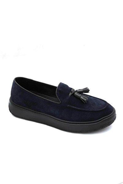 Fratelli Rossetti Erkek Lacivert Püsküllü Loafer Ayakkabı