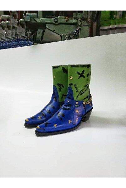 Futuristiklover Unisex Lacivert Kovboy Bot