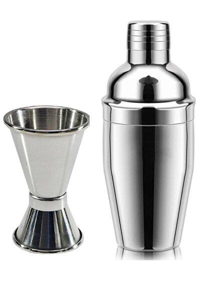 Leva House 350 ml Çelik Kokteyl Shaker Karıştırıcı ve 1/2 Cl Jigger Set
