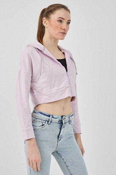 VENA Kadın Pembe Kapüşonlu Ceket