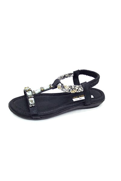 PUNTO 563069 Taşlı Rahat Yenı Sezon Sandalet