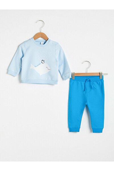 LC Waikiki Erkek Bebek Açık Mavi Takım