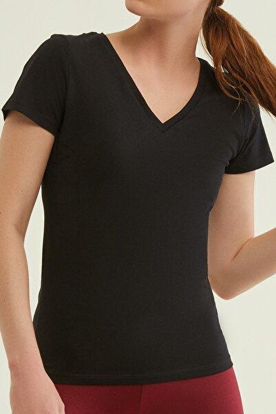 AVON Stella Siyah Basic Tişört - Small