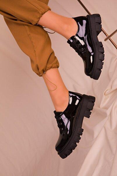 SOHO Siyah Rugan Kadın Casual Ayakkabı 15737