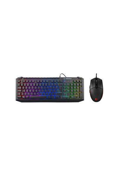 Rampage Kb-r310 Broker Siyah Usb Gökkuşağı Zemin Aydınlatmalı Oyuncu Klavye + Mouse Set
