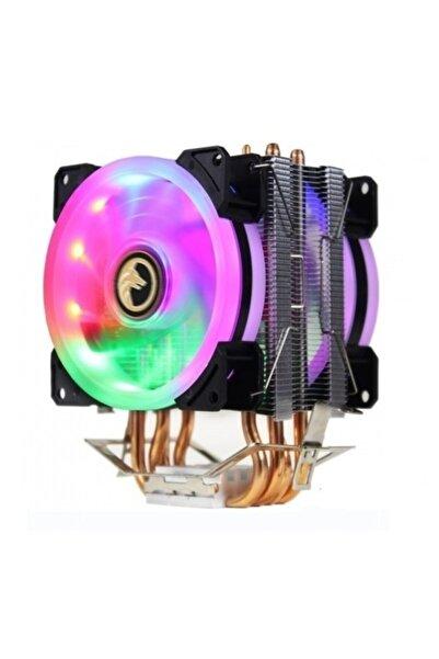 GAMETECH Freezer Hd 2.4 Çift Rainbow Fanlı 4x Bakır Borulu Performans Serisi Kule Tipi Işlemci Fanı