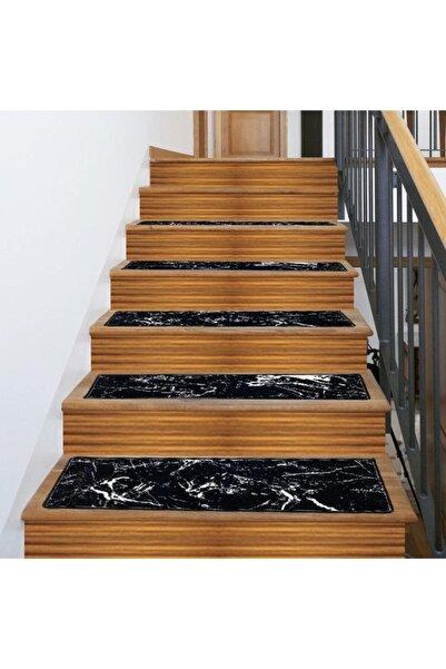 AKSU Merdiven Basamak Halısı 25x80 Ebatlı+ Kaymaz Tabanlı+makinede Yıkanabilir+çift Taraflı Bantı