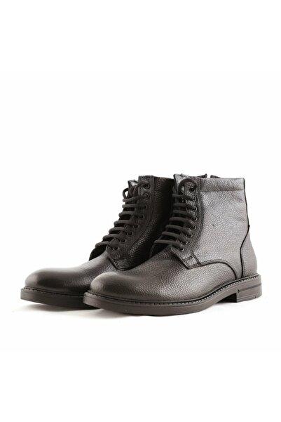 Beta Shoes Hakiki Deri Erkek Bot Siyah