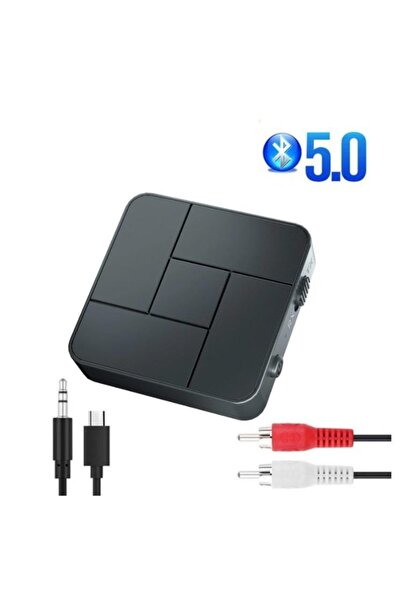 Alfa Bluetooth 5.0 Ses Alıcı Verici Aux Rca Usb Stereo Kablosuz Mikrofonlu Araba Tv Pc Rx Tx Receiver