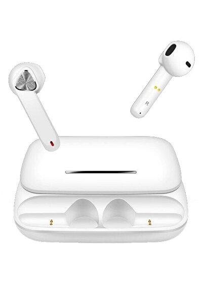 Escom Samsung Galaxy S8, S8 Plus Uyumlu Earbuds Beyaz Kızaklı Bluetooth Kulaklık