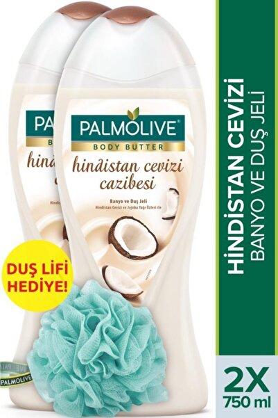 Palmolive Body Butter Hindistan Cevizi Cazibesi Banyo Ve Duş Jeli 750 ml X 2 Adet Duş Lifi Hediye