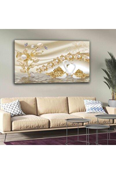 hanhomeart Kuğu Gold Kanvas Tuval Tablo