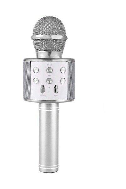 NoTech Gri  Bluetooth Usb Hafıza Kartı ve Aux Girişli Karaoke Mikrofon Ws-858