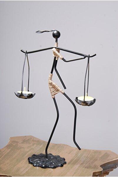 Le ante Siyah Dekoratif Mumluk- Kadın Figürlü Mumluk-tealight (Mum) Dahil
