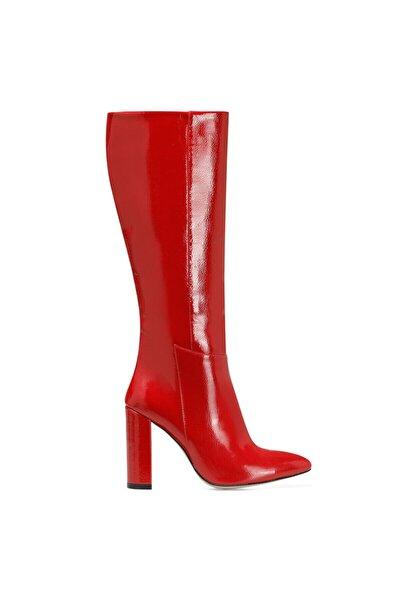 Nine West Mıma Kırmızı Kadın Ökçeli Çizme
