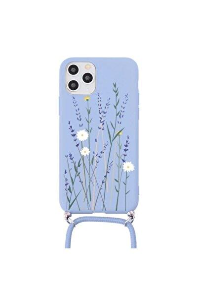 GiphyCase Xiaomi? Redmi Note 8 Pro Kılıf Çiçek Desenli Silikon Askılı Kapak