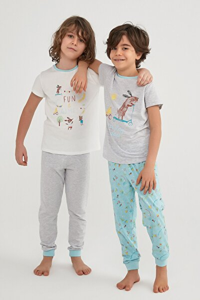 Penti Erkek Çocuk Çok Renkli Play Buddıes Ls- 4lü Pijama Takımı