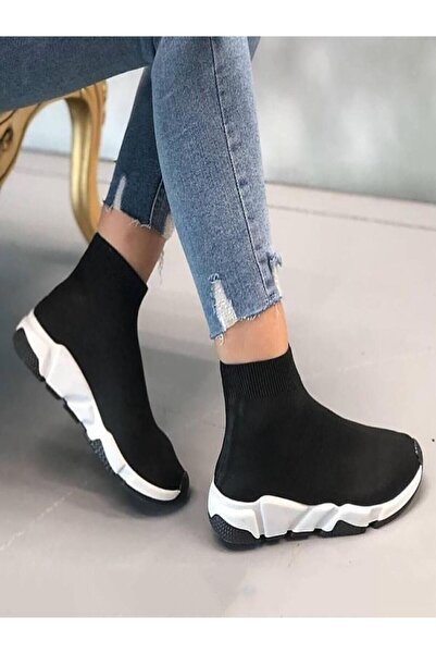 ROSTO Unisex Çorap Tarzı Bez Ayakkabı