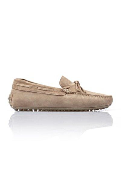 Erkek Bej Hakiki Deri Loafer Ayakkabı