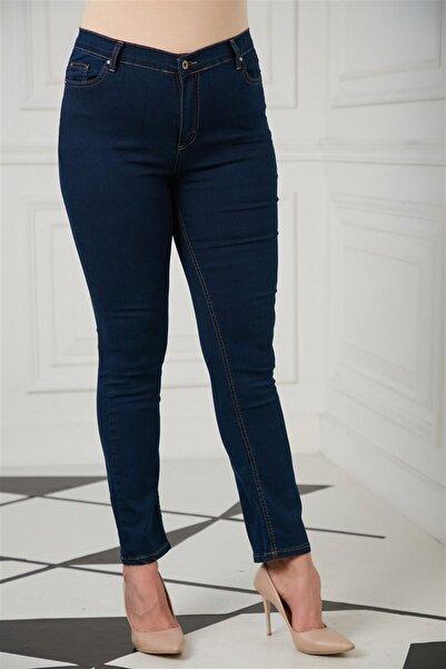 RMG Kadın Lacivert Büyük Beden Pantolon