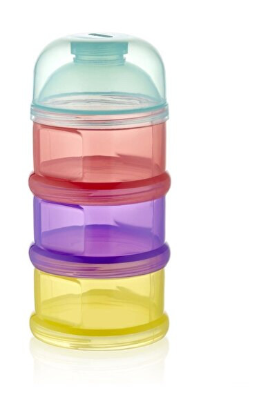 Babyjem Karışık Renkli Katlı Toz Mama Kabı 545