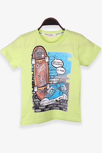 Breeze Erkek Çocuk Tişört Kaykay Ve Spor Ayakkabı Baskılı Fıstık Yeşili (8-10 YAŞ)