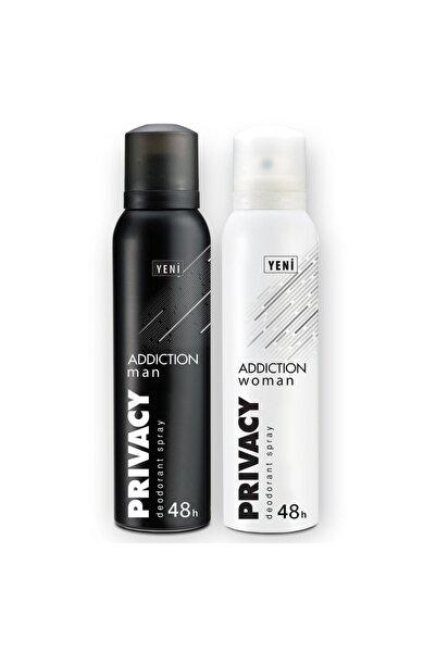 Privacy Man & Woman Addiction Erkek Ve Kadın Deodorant 2x150ml