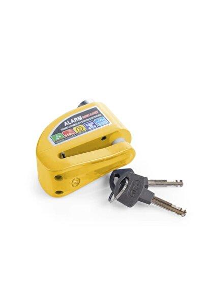 Locks Alarmlı Disk Kilidi Yüksek Ses Çelik Gövde Sarı Renk