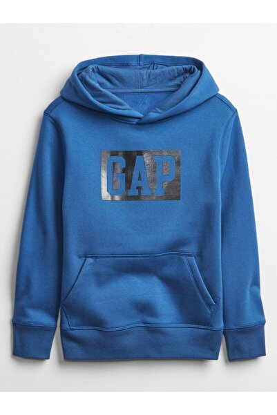 GAP Logo Kapüşonlu Çocuk Sweatshirt