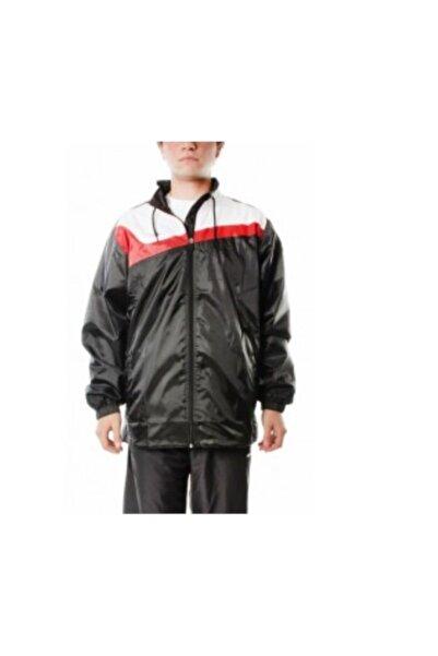 Sportive Erkek Siyah Kırmızı Beyaz Yağmurluk (270024-skb)