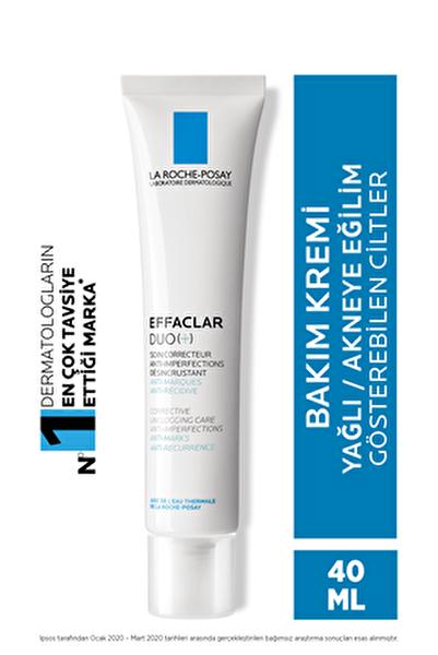 Effaclar Duo(+) Bakım Kremi Cilt Kusuru Görünümü Karşıtı Akneye Eğilim Gösteren Ciltler 40 ml