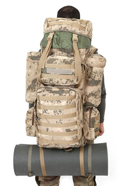 Silyon Askeri Giyim Kamuflaj Taktik Askeri Dağcı Operasyon Çantası 110 Lt