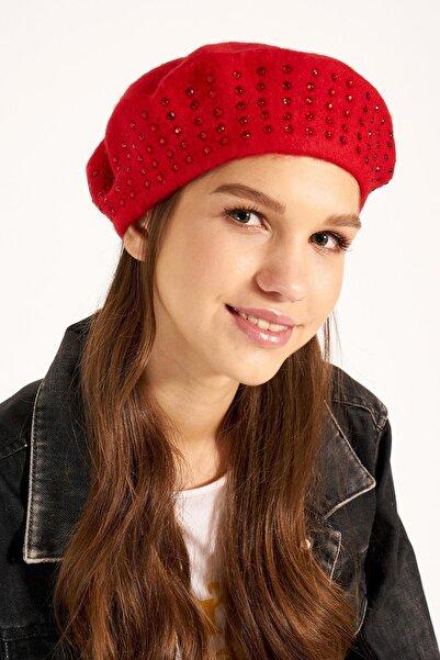 Y-London 13530 Kırmızı Taşlı Ressam Şapka